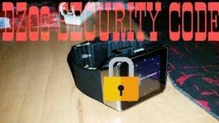 Smart watch dz 09 security code change