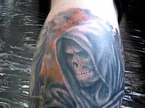 Como se hace un tattoo Tatuando la Muerte