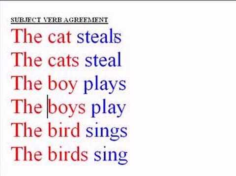 Subject Verb Pictures Subject Verb Agreement