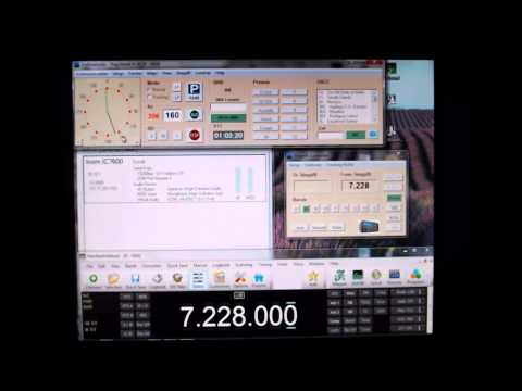 Icom 7600 vs IC-756ProIII Part 7  (RS-BA1 Remote Operation Part 1)