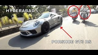 INDIA's Latest PORSCHE GT3 RS Pulling Attention in HYDERABAD | 2019 | INDIA