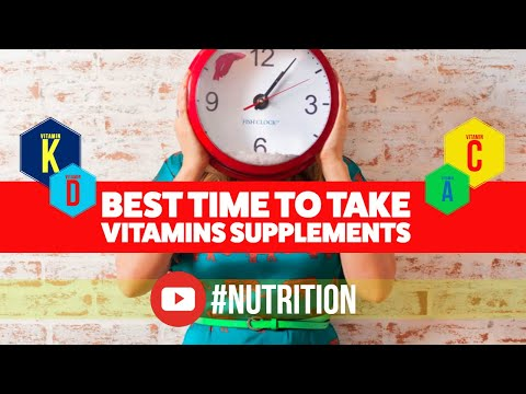 Best Time To Take Vitamins and Supplements