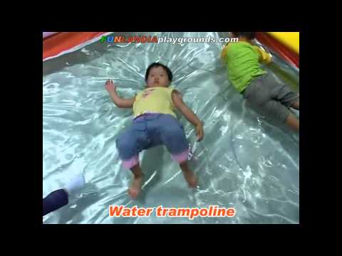 0 Children play centre equipment     water trampoline