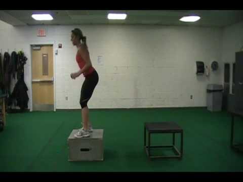depth drop box jump bound - YouTube