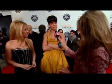 Shakira and Rihanna at RIAA and Feeding America Inauguration Charity Ball