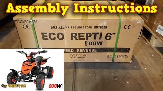 Electric Quad 800W 36V - Unboxing - Full Assembly - Instructions - Pocket Quad
