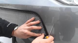 Видео: Установка защиты радиатора Mitsubishi Outlander 2013 серебро