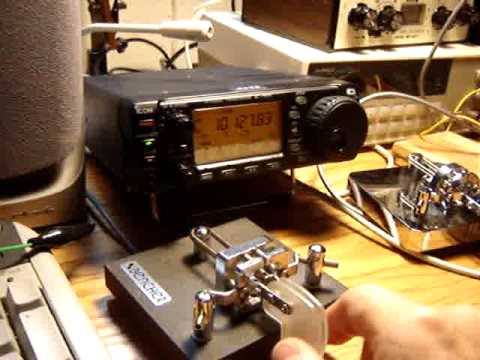 ICOM IC-703 CW Demonstration