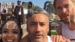 Thor: Ragnarok - End of shoot set visit with Chris Hemsworth (2017)