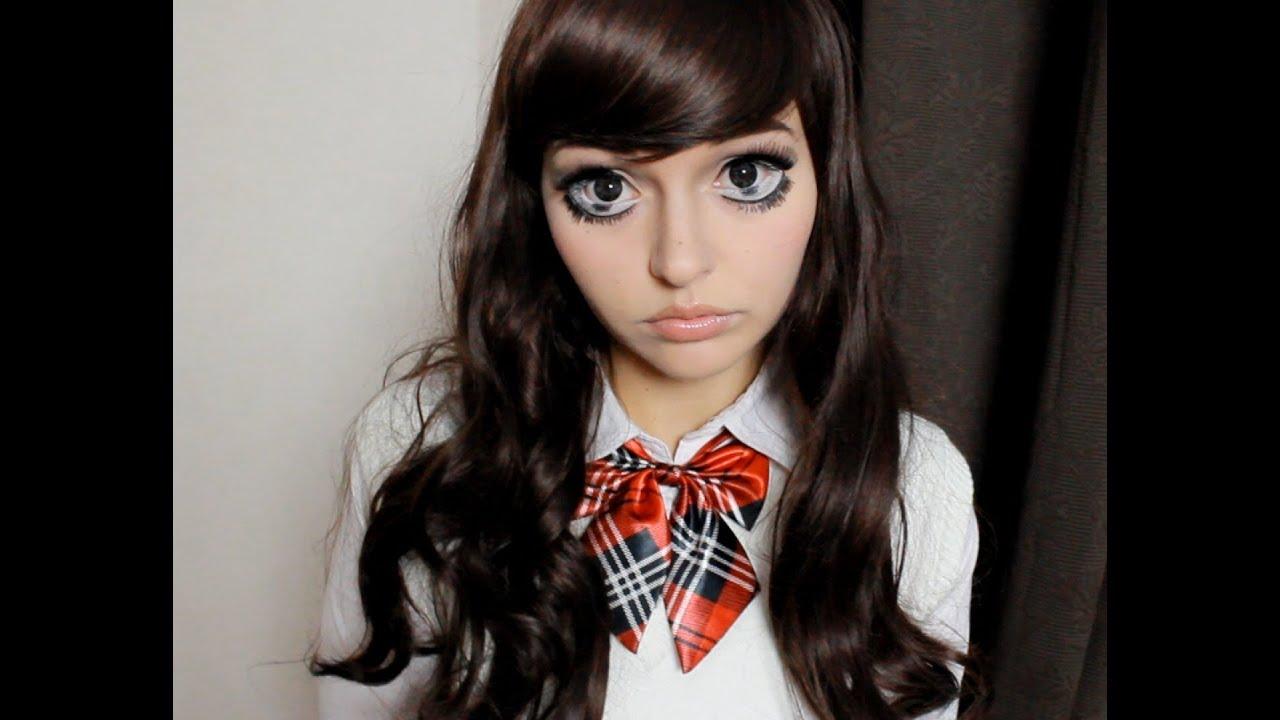 Anime Girl Makeup Japan Halloween Youtube