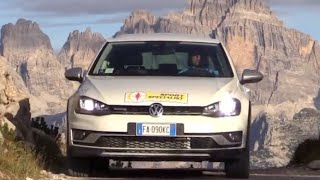 NEW VOLKSWAGEN GOLF VARIANT ALLTRACK 2016 - PAGANELLA VERTICAL LIMIT CRAZY TEST