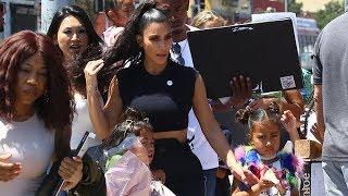 Kim Kardashian And Kanye West Give Kids
