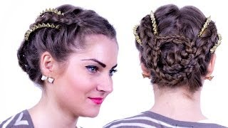 Kelly Osbourne Braided Updo with Studded Accents