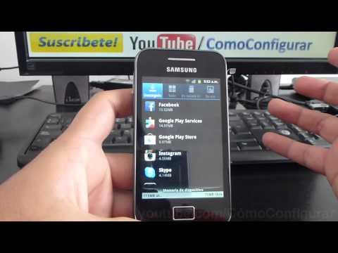 Desinstalar aplicaciones Android samsung galaxy Ace S5830 español Full HD