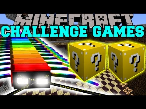 Minecraft: Rainbow Centipede Challenge Games - Lucky Block Mod - Modded Mini-game video