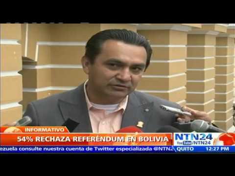 VIDEO: AL MENOS 54% DE LOS BOLIVIANOS RECHAZA REFERENDO PARA QUE MORALES SE POSTULE A LA PRESIDENCIA