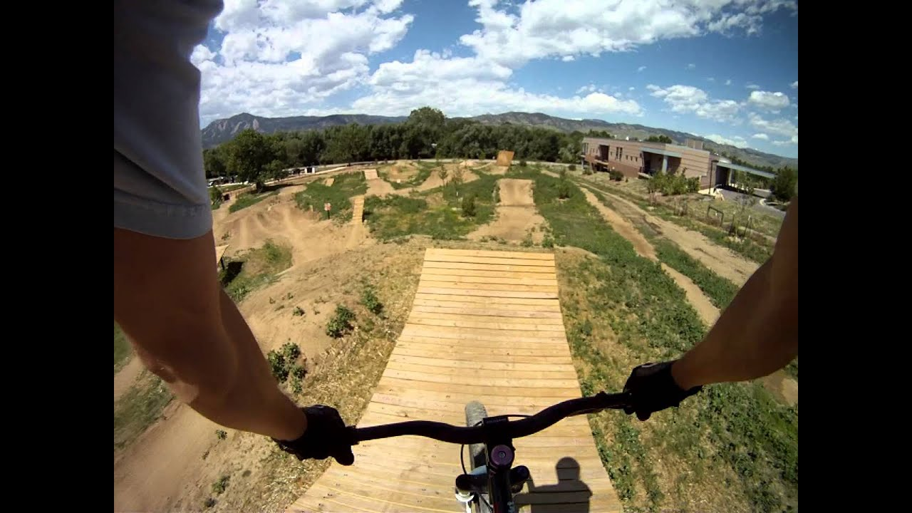 Bike Jumping Parks line at Valmont Bike Park