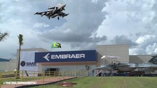 Fábrica do caça Gripen N é inaugurada no Brasil  - Gripen N Jet Fighter factory opens in Brazil
