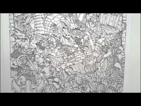 Doodle Art quot Dragon Fantasy quot Coloring
