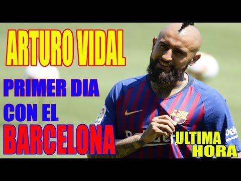 ULTIMA NOTICIA DEPORTIVA DE FÚTBOL HOY JULIO 2018 PRIMER DÍA DE ARTURO VIDAL EN EL BARCELONA FÚTBOL thumbnail