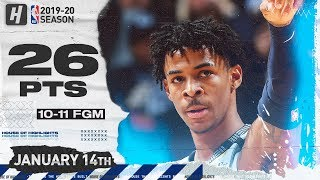 Ja Morant 26 Points Full Highlights | Rockets vs Grizzlies | January 14, 2020