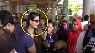 Kareena Kapoor MOBBED By Fans At Mumbai International Airport!