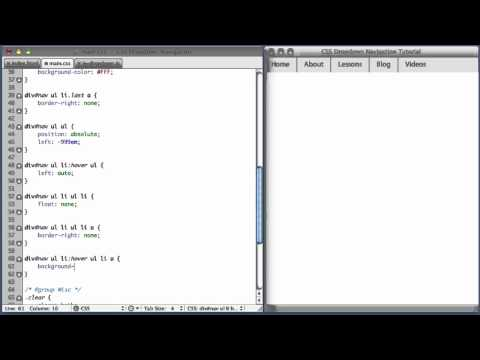 CSS Dropdown Navigation Menu (part 2)