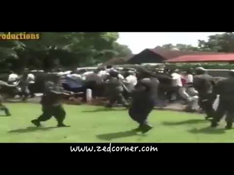 Zambia Police Beating Up UNZA students for rioting