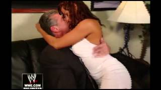 Vince McMahon and Candice Michelle go personal (REAL)