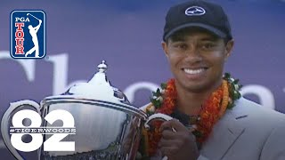 Tiger Woods wins 2000 Mercedes Championships Chasing 82