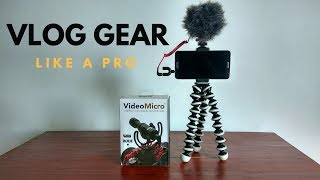 How to Setup Your Vlog Gear With Just Your Phone Like A Pro!