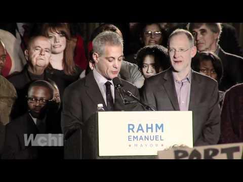 Rahm Emanuel Elected Mayor - Full Victory Speech