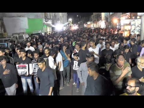 AHD Live Protest IN Hyderabad INDIA Against Demolition Of Jannatul Baqee 2019