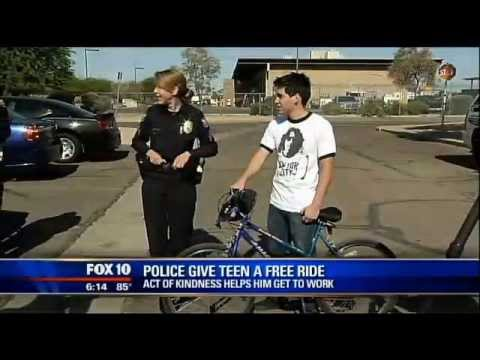 Phoenix Police Officer Gifts Hard Working Teen With Wheels