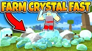 Booga Booga HOW TO FARM CRYSTALS FAST! [+NEW METHOD]