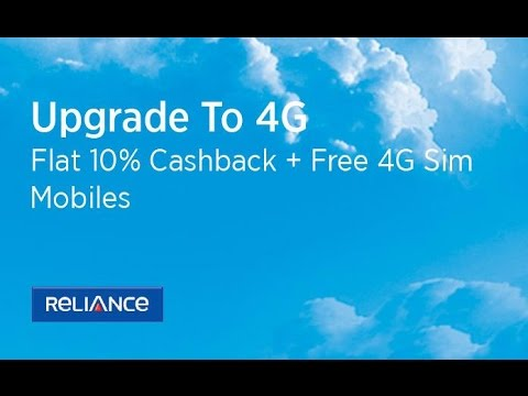 Reliance cdma 4g upgrade - Flat 10% OFF on Mobiles + 4G SIM Free