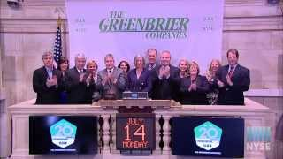 The Greenbrier Companies, Inc. Celebrates the Company's 20th Anniversary of Listing