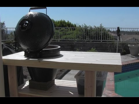 How to Build a Big Green Egg Table Nest - My New Green Egg