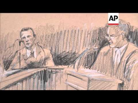 Athlete leaves court as trial adjourned for the day, court sketch, voxpops