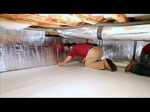 Insulating Heating Ducts In The Crawl Space Under The