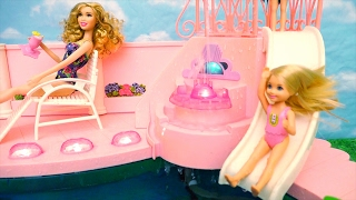 Barbie Toys Fountain Swimming Pool - Chelsea Feels Bad She Doesn