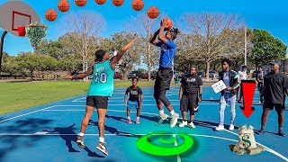 Score on Me, You Get $1,000 VS Random Trash Talkers! (BASKETBALL CHALLENGE)
