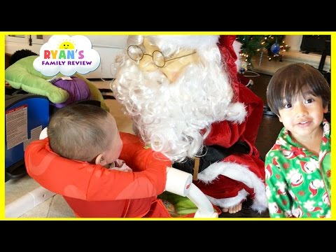 Singing and Dancing Santa Claus for Christmas! Power Wheels Ride On Train with Tracks for kids