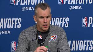 Billy Donovan Postgame Interview | Thunder vs Jazz - Game 6 | April 27, 2018 | 2018 NBA Playoffs