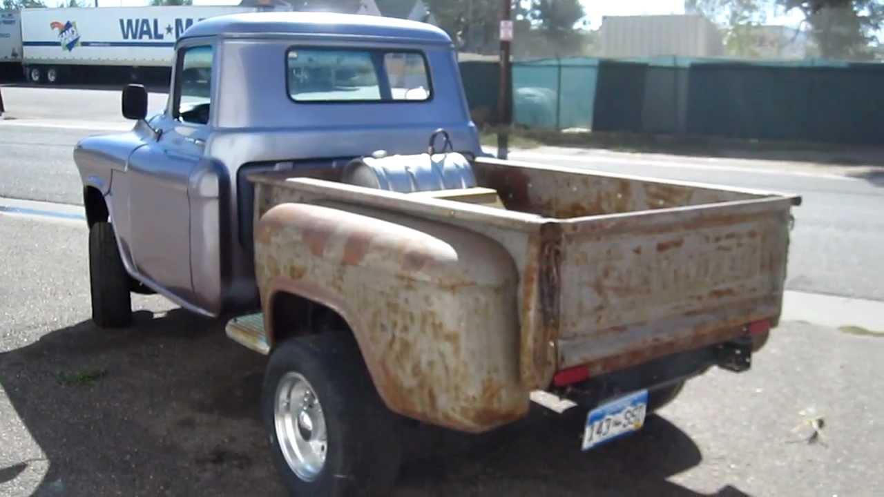 1957 chevrolet custom 1 2 ton pickup truck for sale youtube. Black Bedroom Furniture Sets. Home Design Ideas