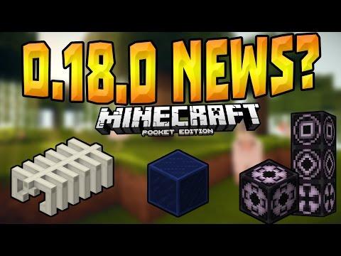 MCPE 0.18.0 NEWS?!! - Structure Blocks, Fossils & MORE - Minecraft PE (Pocket Edition)