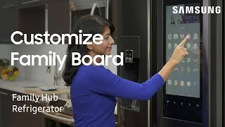 Use Family Board to personalize your Family Hub home screen | Samsung US