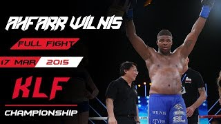 Kickboxing: Roman Kryklia vs. Jahfarr Wilnis FULL FIGHT-2015