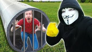 PROJECT ZORGO TOOK My CAMERA & TRAPPED ME in HIDDEN TUNNEL (Hacker Trivia Escape Room Challenge)