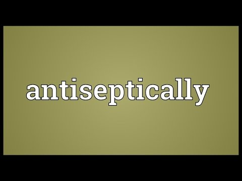 Header of antiseptically